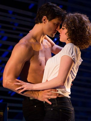 "Samuel Pergande (Johnny) and Jillian Mueller (Baby) in the North American tour of ""Dirty Dancing – The Classic Story on Stage."""