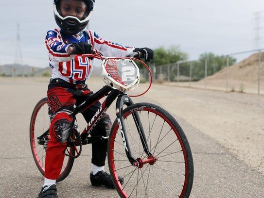 Ellie Carey, 6, of Goodyear is a BMX rider who won