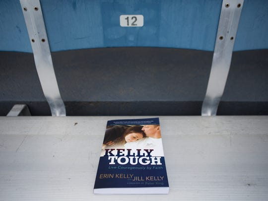 A copy of Kelly Tough, the new book by Erin and Jill Kelly.