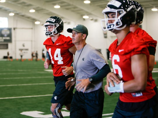 Brad Salem has been MSU's quarterbacks coach since 2013, after joining the staff in 2011. He takes over as offensive coordinator for Mark Dantonio, with Dave Warner moving to quarterbacks coach.