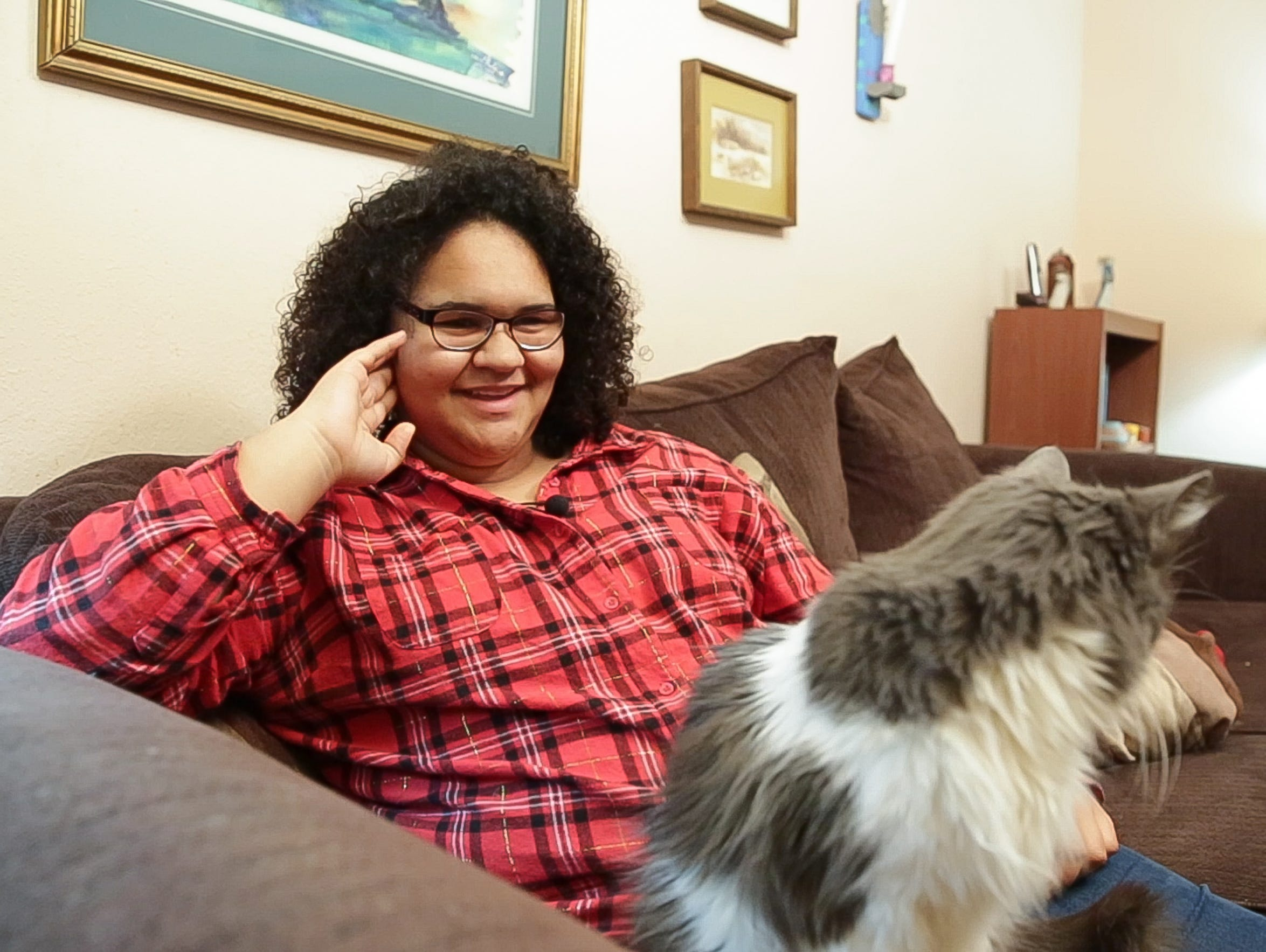 Quinlan Pope, 16, talks about her mother's comedy while