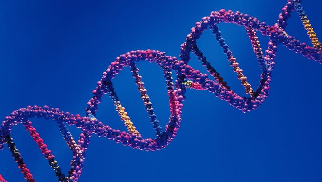 A DNA strand is a mixed combination of A,C, G or T ... 3 billion of them.