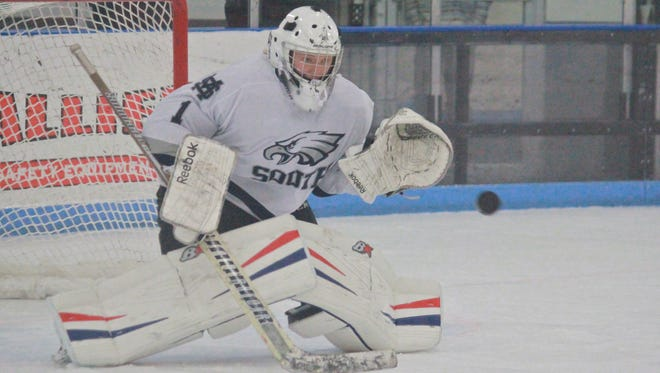 Owen Liskiewicz recorded a shutout in Middletown South's Class B North win over Ocean on Thursday.