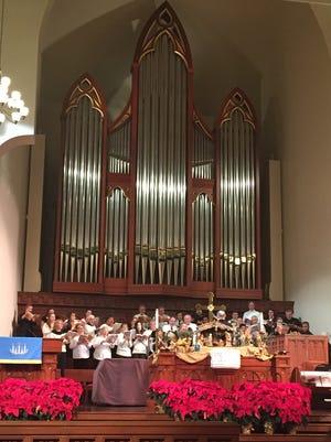 Community singers perform Handel's Messiah at Madison Street United Methodist Church in 2016