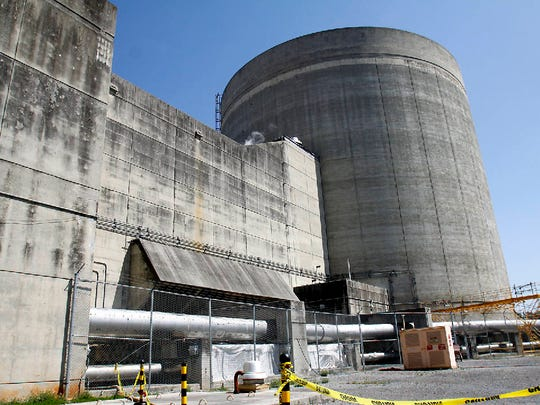 One of two generators are seen at TVA's Sequoyah nuclear