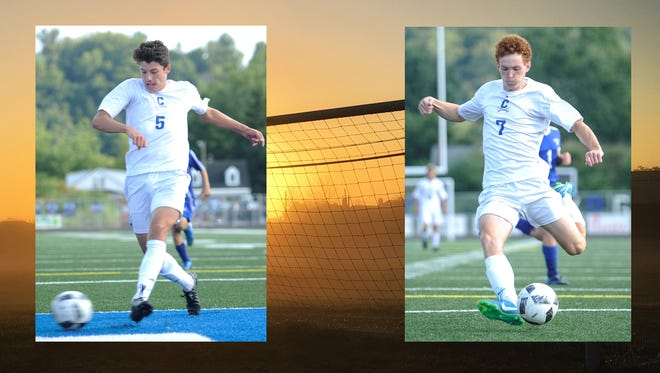 Chillicothe's Matt Detty (left) and Alec Beavers (right) have combined for 23 goals and 12 assists this season. The Cavaliers stand at 7-2 overall and 5-0 in FAC action.