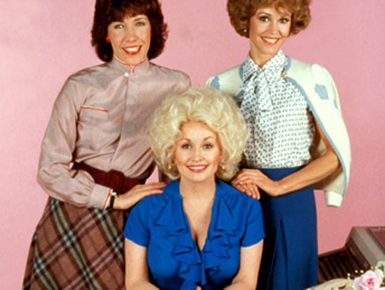 "Lilly Tomlin, Dollie Parton and Jane Fonda in ""9 to 5."""