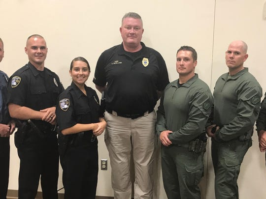 Left to right -Haughton Reserve Officer Sean Stewart, Bossier City Reserve O