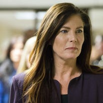 Then-Pennsylvania Attorney General Kathleen Kane departs after her preliminary hearing Nov. 10, 2015, at the Montgomery County courthouse in Norristown, Pennsylvania.