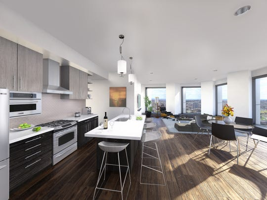 Rendering showing inside one of the planned apartments.