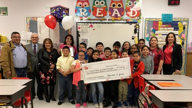For the first time ever, the Robstown ISD Education Foundation awarded six grants to teachers of Robstown ISD. The foundation distributed about $4,600 during asurprise check presentation Friday.