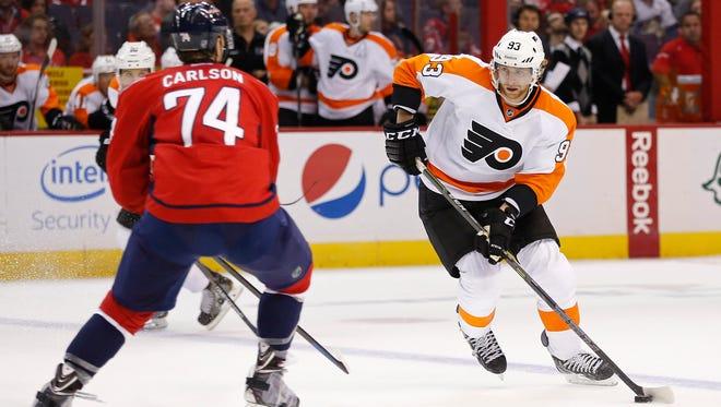 Jake Voracek and the Flyers beat Washington last week in Philly.