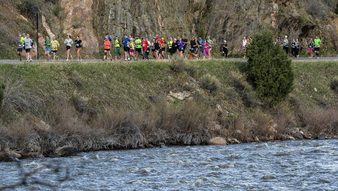 The Colorado Marathon, now in its 15th year, takes runners on a course that starts 17 miles up the Poudre Canyon.