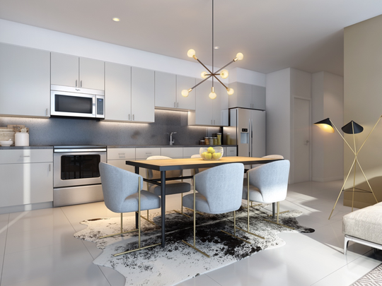 64@theRiv is a new community of 64 luxe condominiums featuring 2 floor plans and priced from the high $300,000s. The 1,500 SF and 1,200 SF floor plans will offer 9' ceilings, clerestory windows, social kitchens, and more. Phase 1 of 64@theRiv will be released February 1st. Listed by NDC Homes.