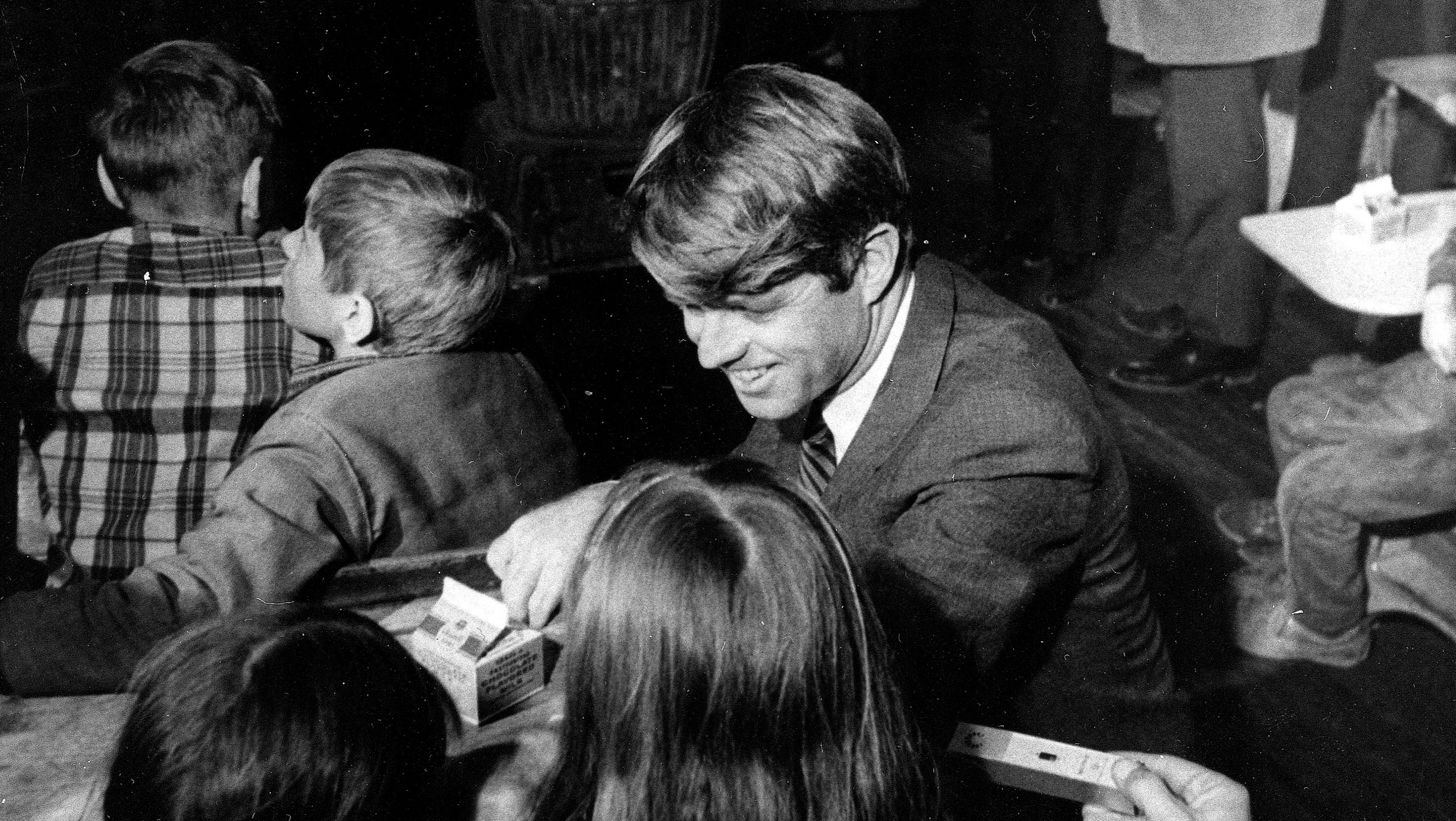 Image result for bobby kennedy visits a school