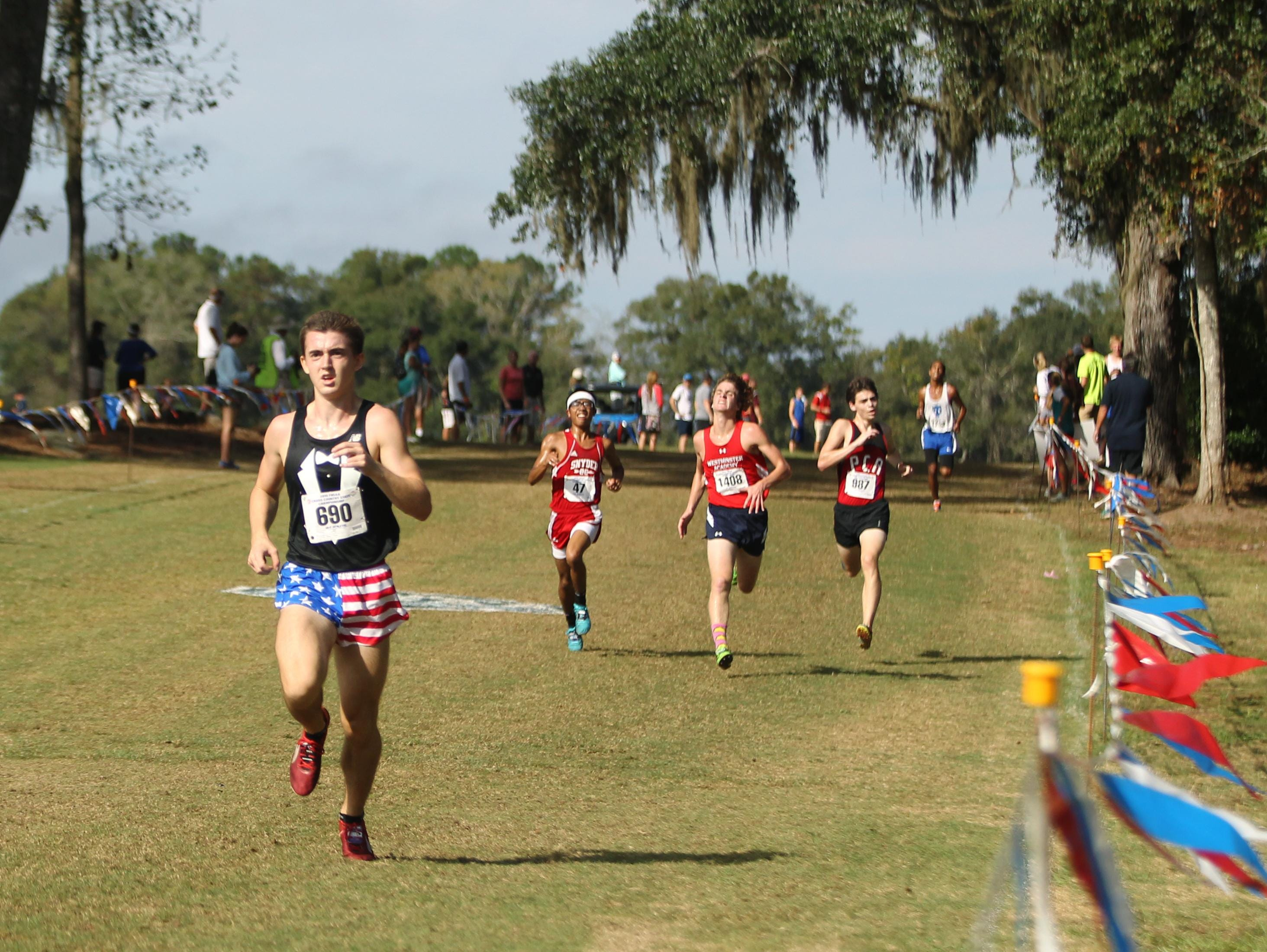 Maclay sophomore James McClure was the highest finisher for the Marauders' boys team, helping the team earn the 1A state runner-up during Saturday's FHSAA cross country finals at Apalachee Regional Park.