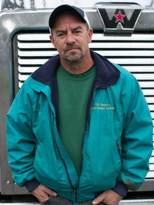 Tim Capuano is a truck driver for R H Harding Trucking Co. in Rochester.