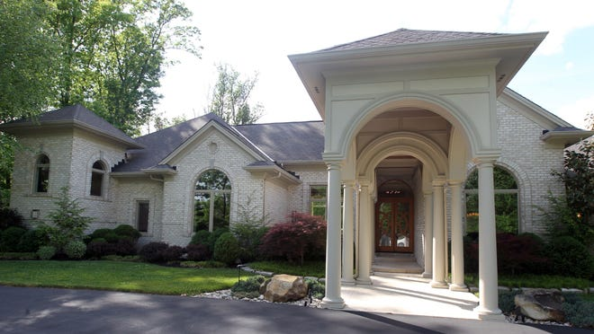 Exterior of a home for sale on Stone Snail Lane, Indian Hill. The listing price is $1.7 million.