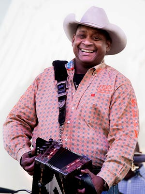 """Geno Delafose is among the featured musicians at the """"Creole Accordion Kings"""" show Saturday at the Liberty Theatre."""