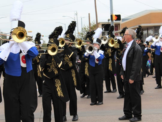 Retiring Abilene High School band director Paul Walker