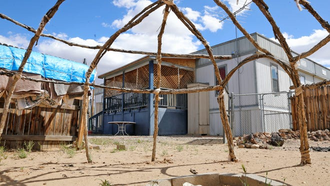 The Home for Women and Children, a domestic violence shelter in Shiprock, is pictured on Thursday. The shelter closed on March 30.