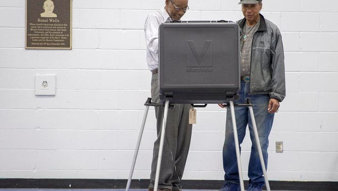 Voters cast their ballots at precinct 12 inside the Roy C Buley Recreation Center during the May 3 primary.