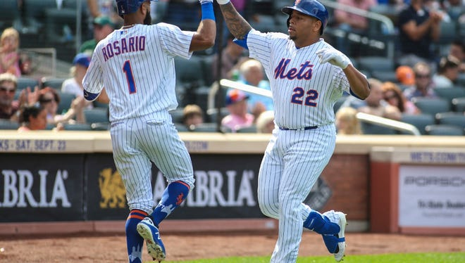 Amed Rosario and Dominic Smith