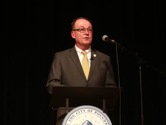 City of Poughkeepsie Mayor, Rob Rolison delivers the