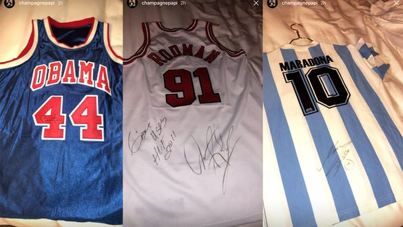 Drake shows off incredible signed jersey collection: From Obama to MJ