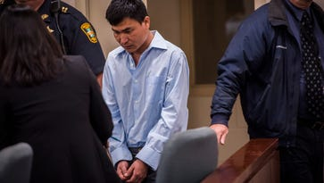 Homicide suspect pleads not guilty in Burlington cleaver attack case