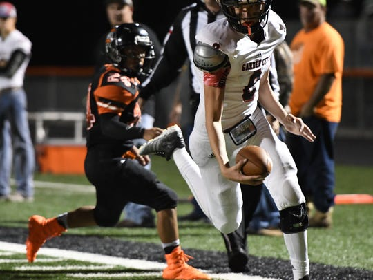 Garden City's Ethan Goodwin was an all-state wide receiver and also one of the best defensive players in the state with 10 interceptions.