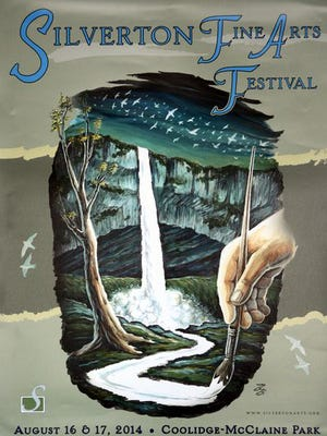 The original artwork for the 2014 Silverton Fine Arts Festival was done by Brian Bloss. Print and other embellishment were added by Tavis Betolli-Lotten for the final poster.