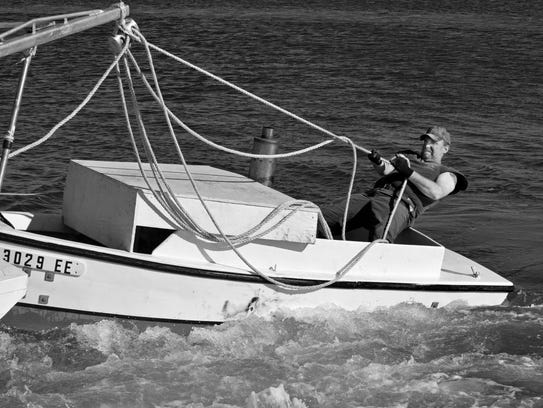 An image featured in Stump's new book of the well-known skipjack, the Kathryn.
