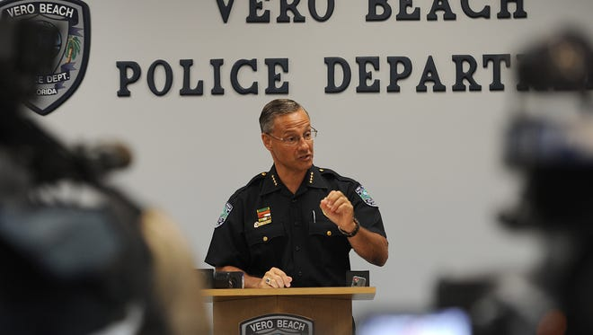 Vero Beach Police Chief David Currey discusses the  fatal stabbing of a man outside a McDonald's restaurant in the 1900 block of U.S. 1 in Vero Beach in 2014. A second attack by a homeless person in that block led to a shooting death in October 2016.