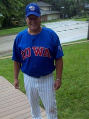 Thom Thielman is so into the Cubs he even dresses like a player.