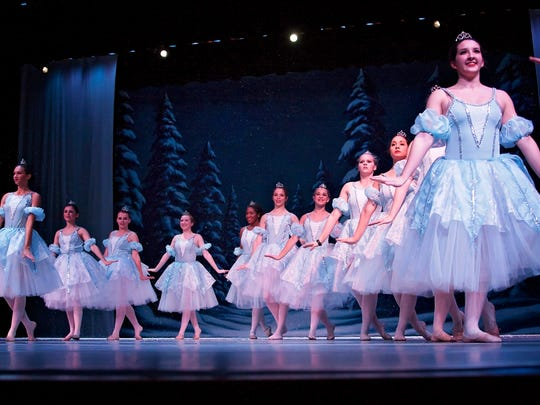 """""""Dance of the Sugar Plum Fairy"""" and """"Waltz of the Flowers"""" are among the famed scenes featured in this weekend's performances of """"The Nutcracker"""" by The Dance Company."""
