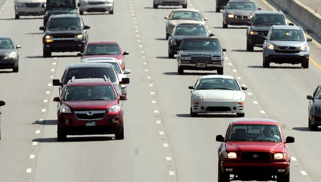 Traffic flows north on I-69 in Fishers.
