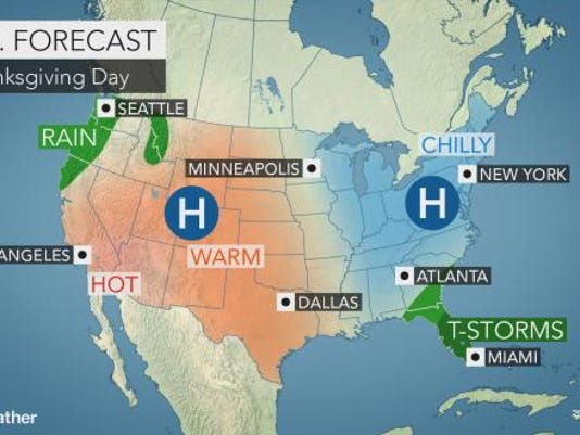 Thanksgiving weather forecast