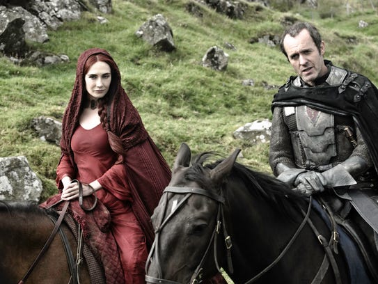 Carice van Houten (left) as Melisandre and Stephen