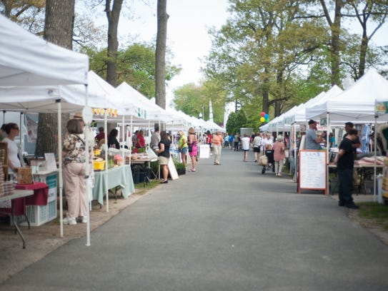 The Rehoboth Beach Farmers Market on opening day.