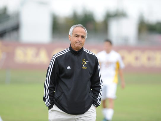 Salisbury men's soccer head coach Gerry DiBartolo will