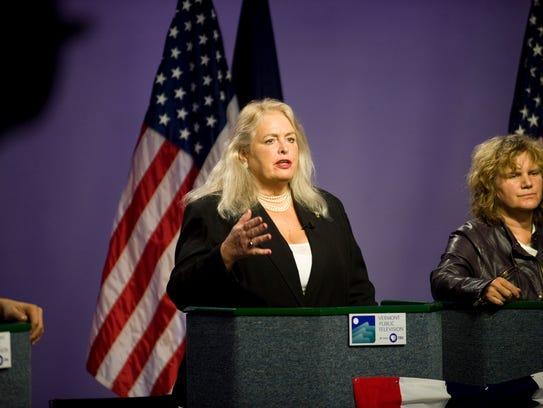Cris Ericson, left, Democratic candidate for U.S. Senate.