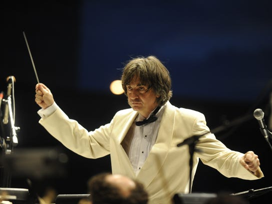 Maestro Marius Smolij and the Acadiana Symphony Orchestra