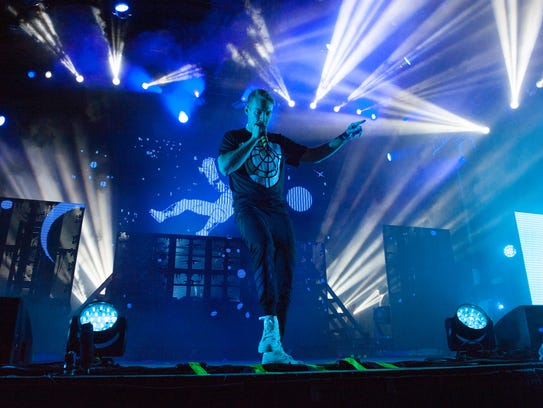 Diplo performs at the Mad Decent Block Party.