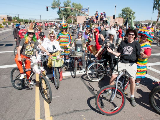 Bikes, beer and crazy costumes make up the annual New