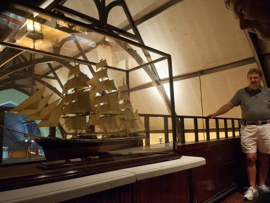 Dominic Battista of Marlton at a sailing ship model