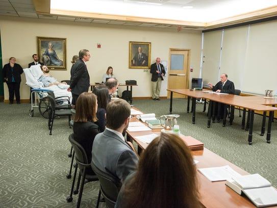 Chittenden County State's Attorney T.J. Donovan speaks