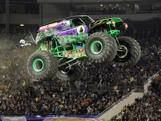 Grave Digger will be one of the trucks at Monster Jam on April 14 and 15 at Thompson-Boling Arena.