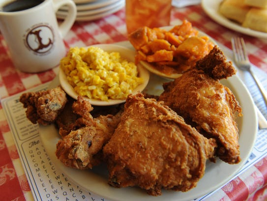 Fried chicken at Loveless Cafe.