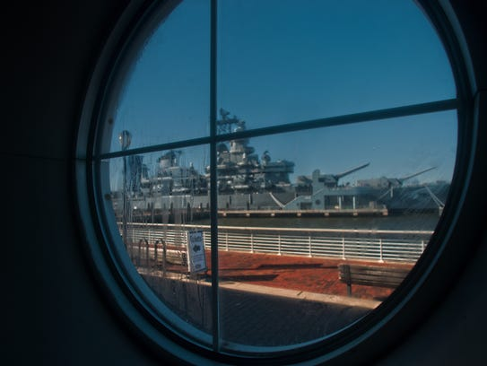 A view of the Battleship New Jersey Museum is shown